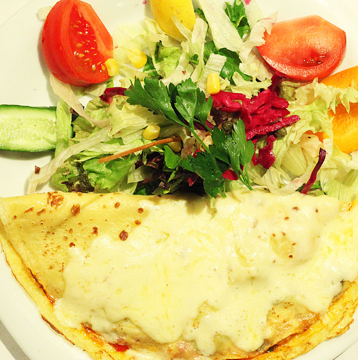 Cream Vegetable Crepe