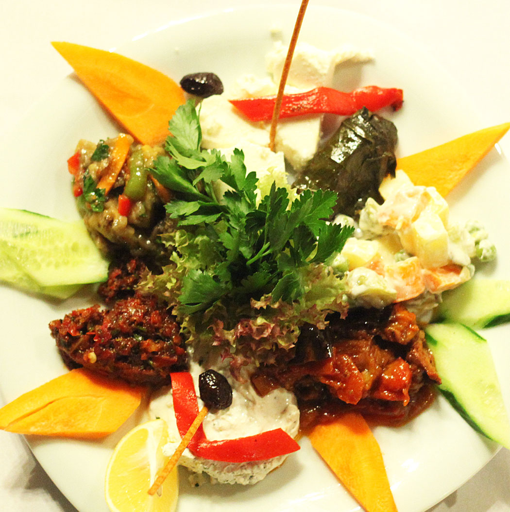 Meze Plate (Mediterranean and Turkish Appetizers)